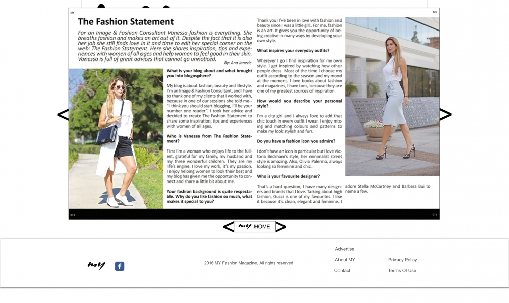 MY FASHION MAGAZINE-INTERVIEW